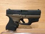 "Glock 43 Single Stack Pistol PI4350201, 9mm, 3.39"", Black Synthetic Grips, Dark-Earth Finish, 6 Rd - 2 of 5"