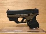 "Glock 43 Single Stack Pistol PI4350201, 9mm, 3.39"", Black Synthetic Grips, Dark-Earth Finish, 6 Rd"