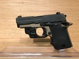 Sig Sauer P938 Pistol 9389DBLSRAMBI, 9mm