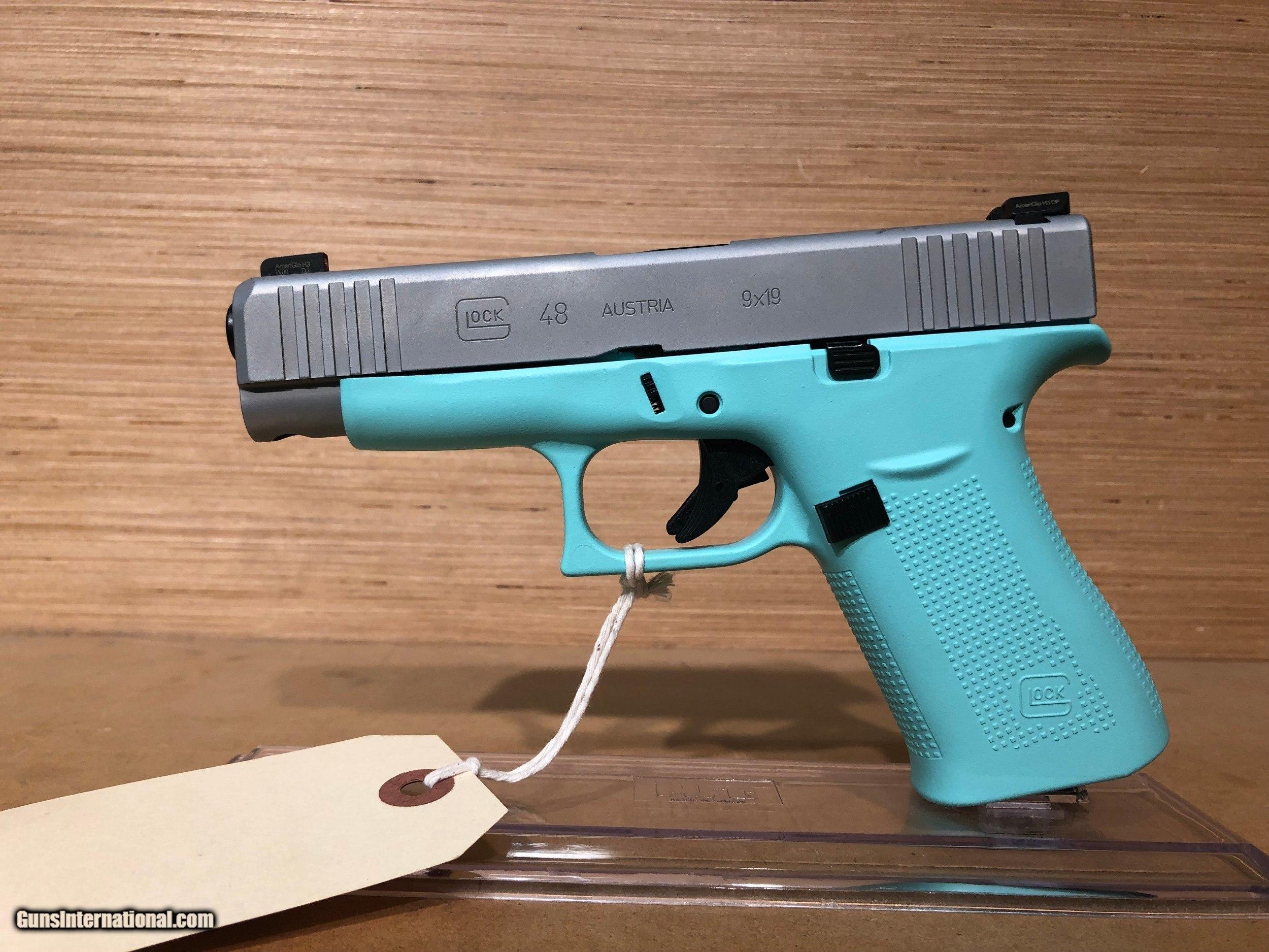 GLOCK G48 ROBIN EGG BLUE 4 17 10RD AMGLOW 9MM