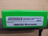 REDDING 6MM/284 WIN NECK SIZE & COMPETITION SEATING DIES