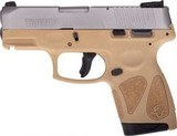 Taurus G2S 9mm Double Action Only Semi-Auto Pistol, 3.25? Barrel, Stainless Finish