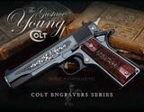 Colt O1970A1CS-VJC 1911 Series 70 TALO Gustave Young Engraver .45ACP