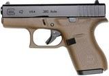 Glock 42 Slimline Subcompact Pistol UI4250201DE, 380 ACP - 1 of 1
