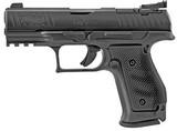 "Walther Q4 SF Steel Frame Optics Ready Pistol 2843323, 9mm Luger, 4"", Black Grip, Black Finish, 15 Rds"