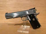 "Colt Gold Cup Trophy Pistol O5070X, 45 ACP, 5"", Black Rubber Grip, Stainless Finish, 8 Rd MPN: