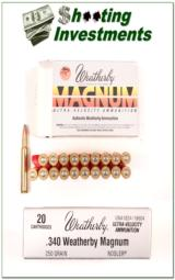 Weatherby 340 Weatherby Magnum factory box of 20 ammo - 1 of 1
