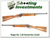 Ruger No. 3 Older 1977 in hard to find 22 Hornet as new - 1 of 4