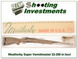 Weatherby Mark V Super Varmintmaster 22-250 in box! - 1 of 4