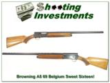 Browning A5 Sweet Sixteen 69 Belgium Blond Vent Rib - 1 of 4