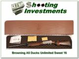 Browning A5 Sweet Sixteen Ducks Unlimited NIC - 1 of 4