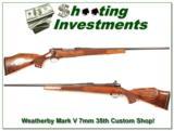 Weatherby Mark V 7mm 35th Anniversary Custom Shop! - 1 of 4