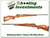 Weatherby Mark V Deluxe 300 Wthy Blond! - 1 of 4