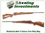 Weatherby Mark V Deluxe 7mm Wthy mag Exc Cond! - 1 of 4