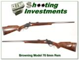 Browning Model 78 6mm Rem XX Wood! - 1 of 4