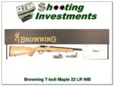 Browning T-bolt 22LR Limited Run Maple Stock NIB - 1 of 4