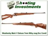 Weatherby Mark V Deluxe 7mm Wthy Mag - 1 of 4