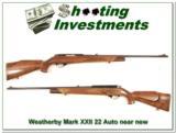 Weatherby Mark XXII 22 Auto Rimfire near new! - 1 of 4