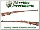 Browning 1885 40-65 30in half octagonal barrel Case Colored! - 1 of 4