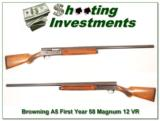 Browning A5 rare FIRST YEAR 58 Belgium Magnum 12! - 1 of 4