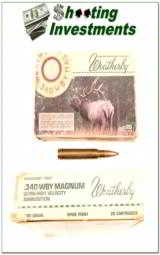 Weatherby factory loaded ammo 340 Wthy 200 grain