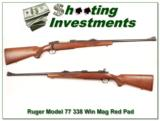 Ruger Model 77 in 338 Winchester Mag older Red Pad - 1 of 4
