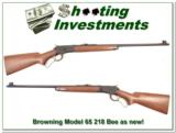 Browning Model 65 218 Bee near new - 1 of 4