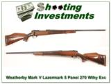 Weatherby Mark V Lazermark 5 Panel 270 26in as new! - 1 of 4