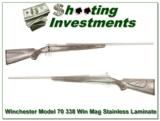 Winchester Model 70 Stainless Laminate 338 Win Mag - 1 of 4