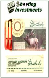 Weatherby 7mm Magnum factory ammo 140 Grain Partition