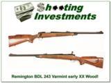Remington 700 BDL early 243 Varmint XX Wood! - 1 of 4