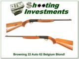 Browning 22 Auto 62 Belgium Blond! - 1 of 4