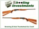Browning 22 Auto Thumbwheel 50's Belgium - 1 of 4