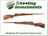 Weatherby Mark V 378 Wthy Lazermark 5 Panel as new - 1 of 4