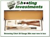 Browning Citori 20 Gauge Lightning 26in in box! - 1 of 4