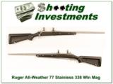 """Ruger Mark II Stainless """"Skeleton"""" All Weather 338 Win Mag near new! - 1 of 4"""