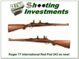 Ruger Model 77 International hard to find 243 Red Pad as new - 1 of 4