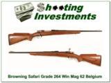 Browning Safari Grade 62 Belgium 264 Win Magnum! - 1 of 4