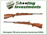 Remington 700 BDL early Pressed Checkering Metal Butt 243 Win - 1 of 4