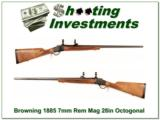 Browning 1885 High Wall 28in Octagonal 7mm Rem Mag! - 1 of 4