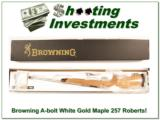 Browning A-bolt White Gold Maple Octagonal 257 Roberts! - 1 of 4