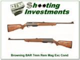 Browning BAR 7mm Rem Mag Super Wood! - 1 of 4