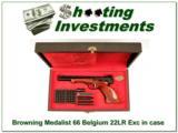 Browning Medalist 22 Auto 66 Belgium in case - 1 of 4