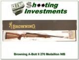 Browning A-bolt II Medallion 270 Win last ones! - 1 of 4