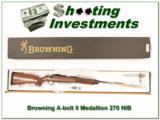 Browning A-bolt II Medallion 270 NIB - 1 of 4