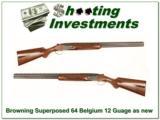 Browning Superposed 12 Gauge 64 Belgium RKLT as new! - 1 of 4
