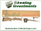 Weatherby Mark V Super Varmintmaster 308 Exc Cond in box! - 1 of 4