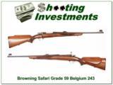 Browning Safari Grade 59 Belgium Mauser 243 Collector 3 digit! - 1 of 4