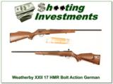 Weatherby XXII 17 HMR Bolt action Anschutz made as new - 1 of 4