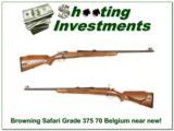 Browning Safari Grade Belgium 375 H&H as new! - 1 of 4